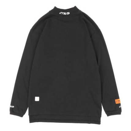 HERON PRESTON  / TURTLENECK FIT LS CTNMB EMB  / BK WH