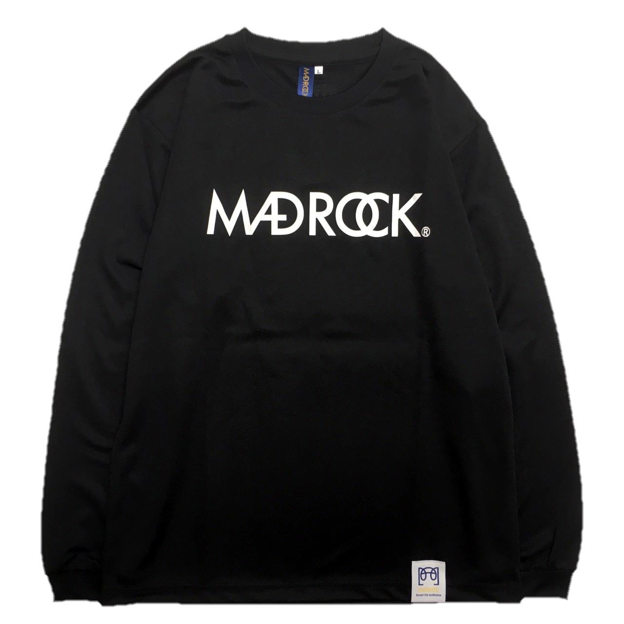 マッドロック / ロゴ ロンT / ドライタイプ / ブラック&ホワイト