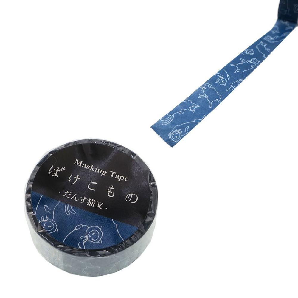 猫マスキングテープ(だんす猫又)幅15mm