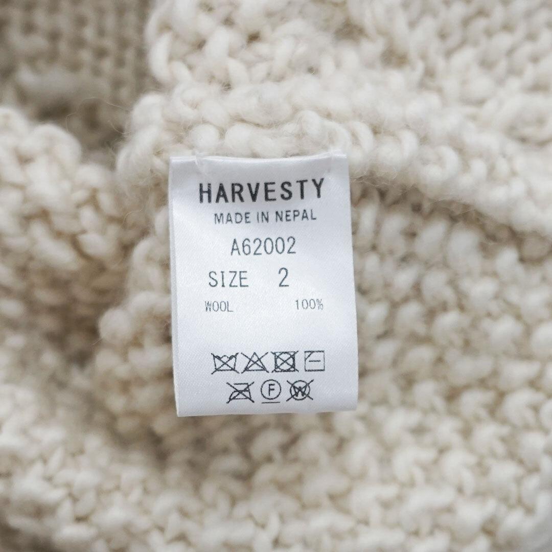 HARVESTY ハーベスティ CABLE KNIT PULL OVER ケーブルニットプルオーバー 正規取扱店 (品番a62002)