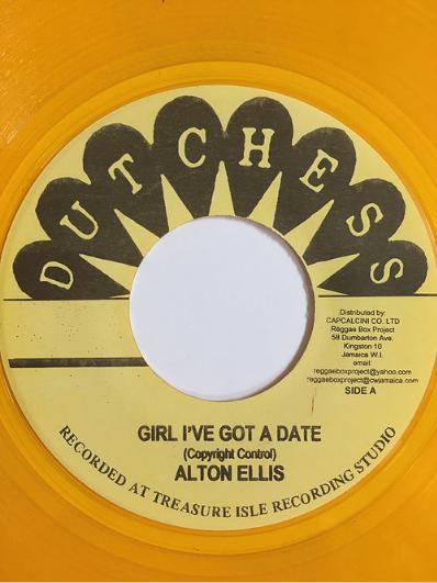 Alton Ellis(アルトンエリス) - Girl I've Got A Date【7inch】