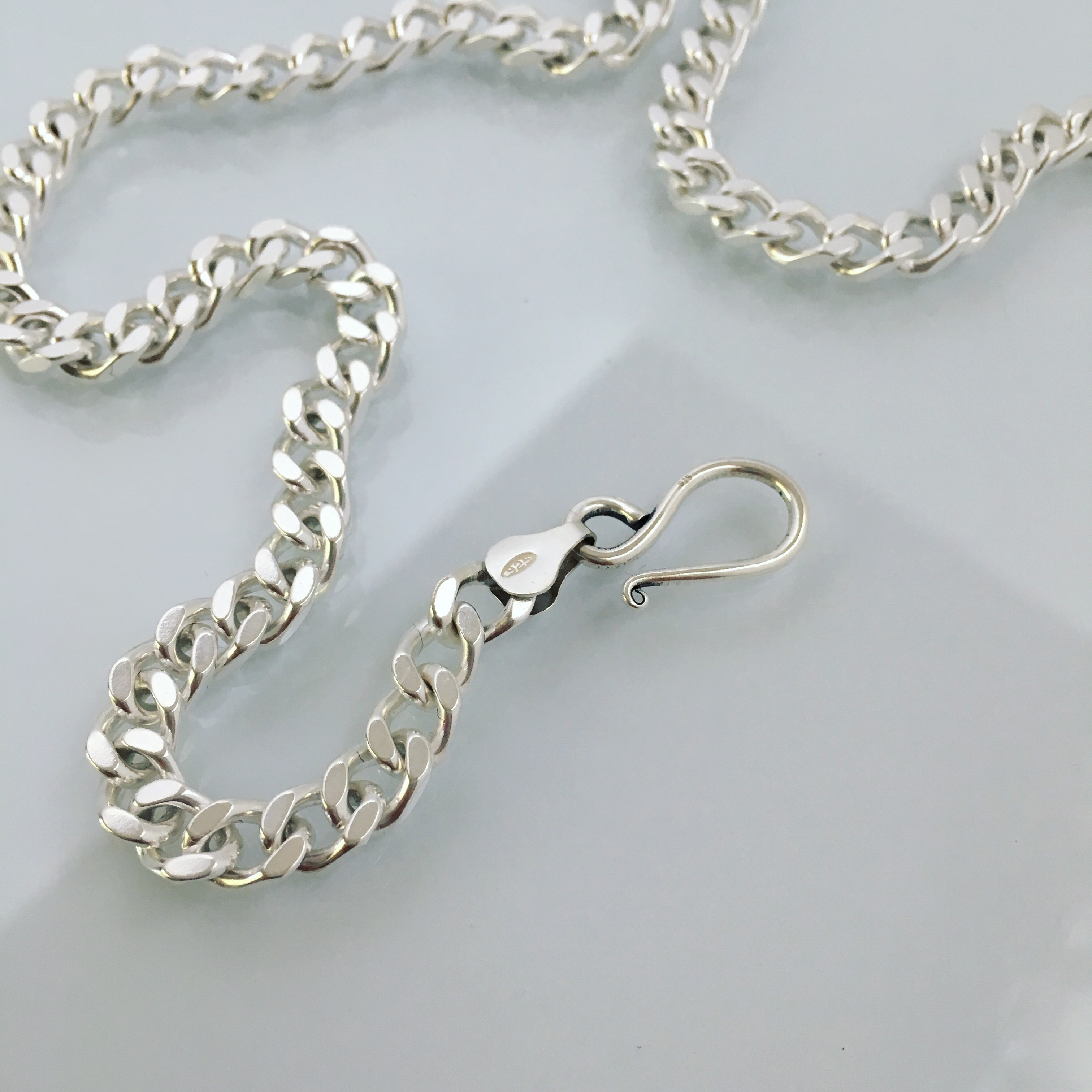 N-S4 silver chain necklace(mens)