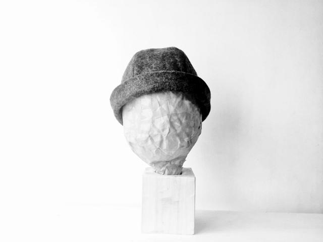 HELMA HAT | FUWA KIMOU COTTON  LIGHTGRAY【M,L】