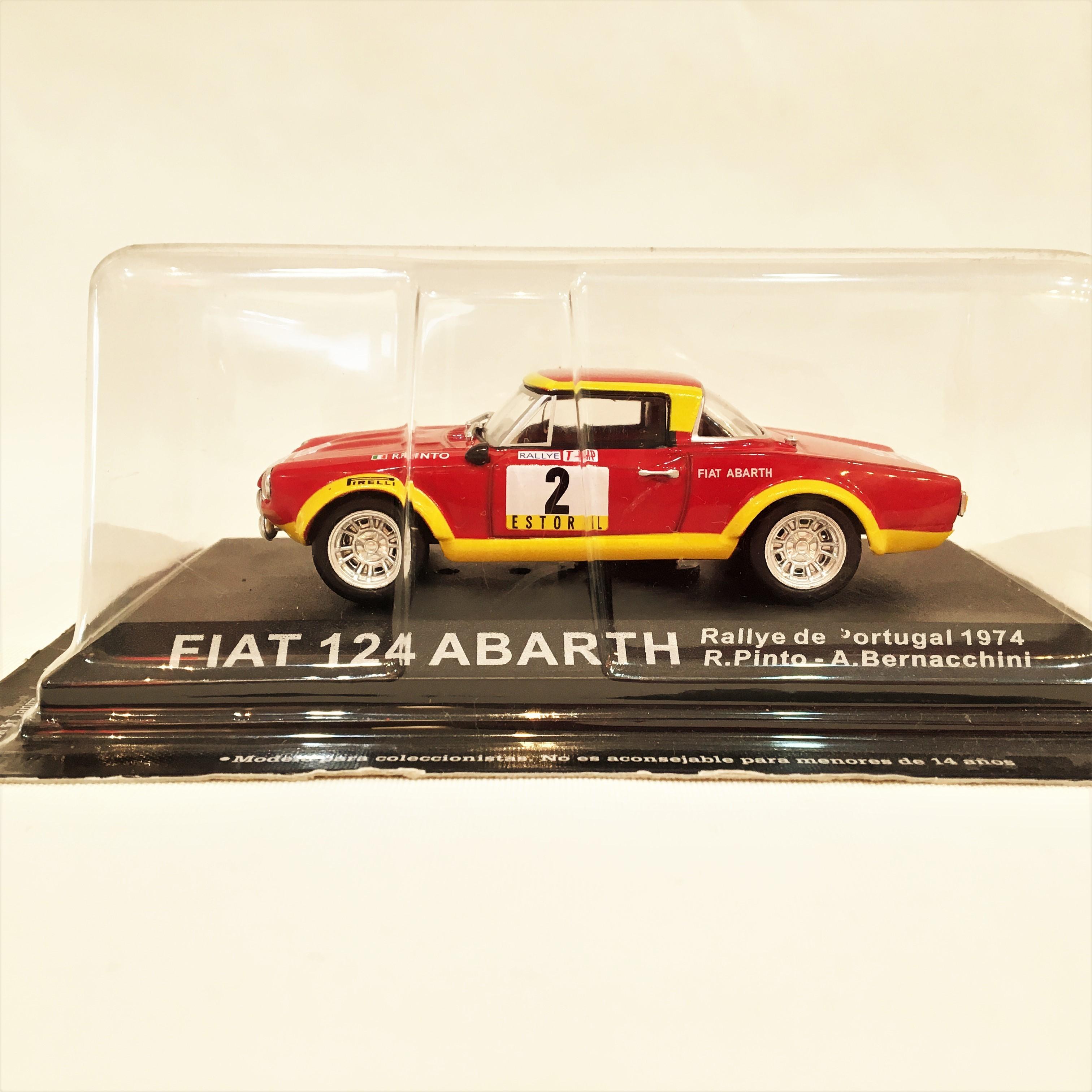 """FIAT 124 ABARTH RALLYE DE PORTUGAL 1974"""" RALLY DEA SCALE 1/43 【1個のみ】【税込価格"""