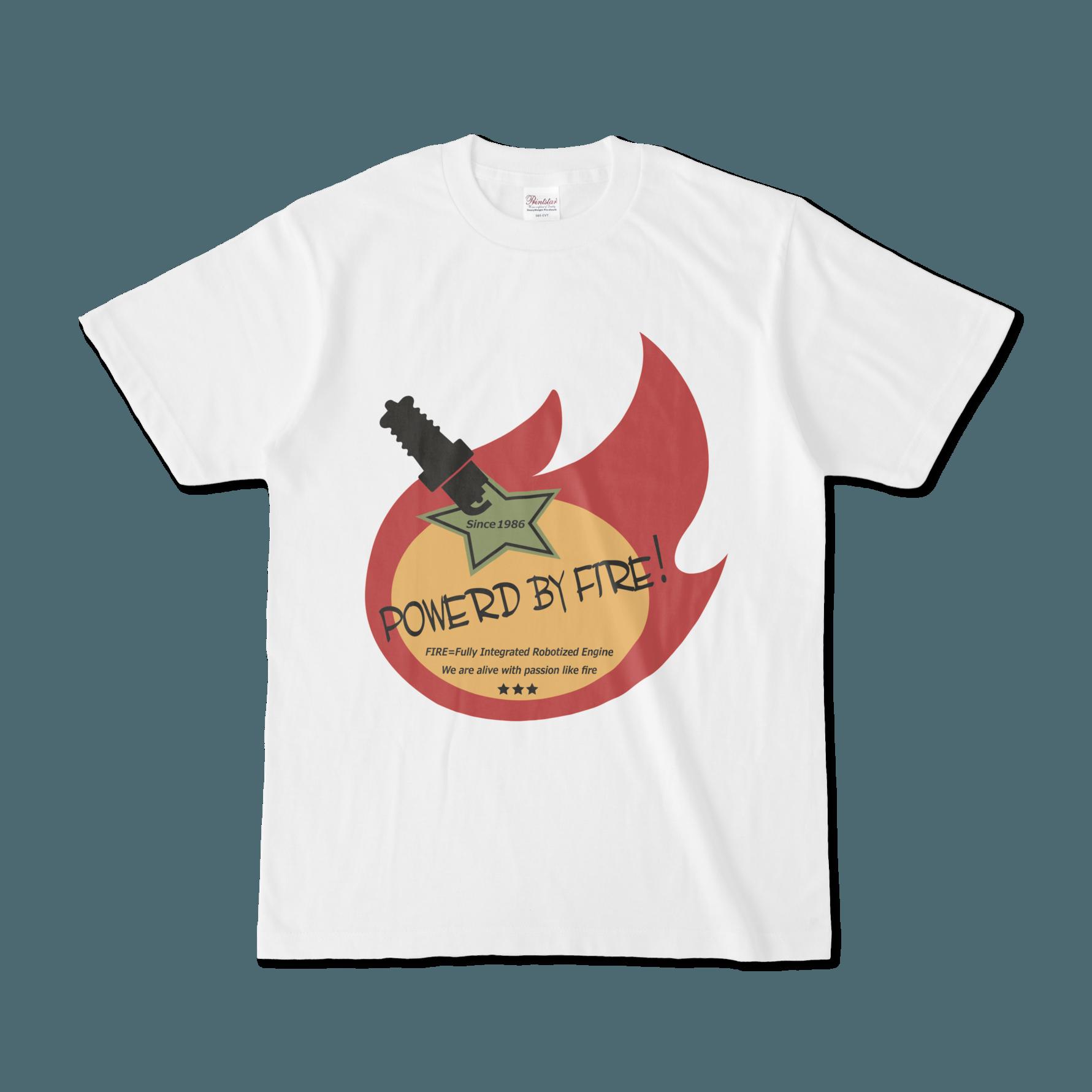 Powerd by fire デザインTシャツ(トリコクラシコ)