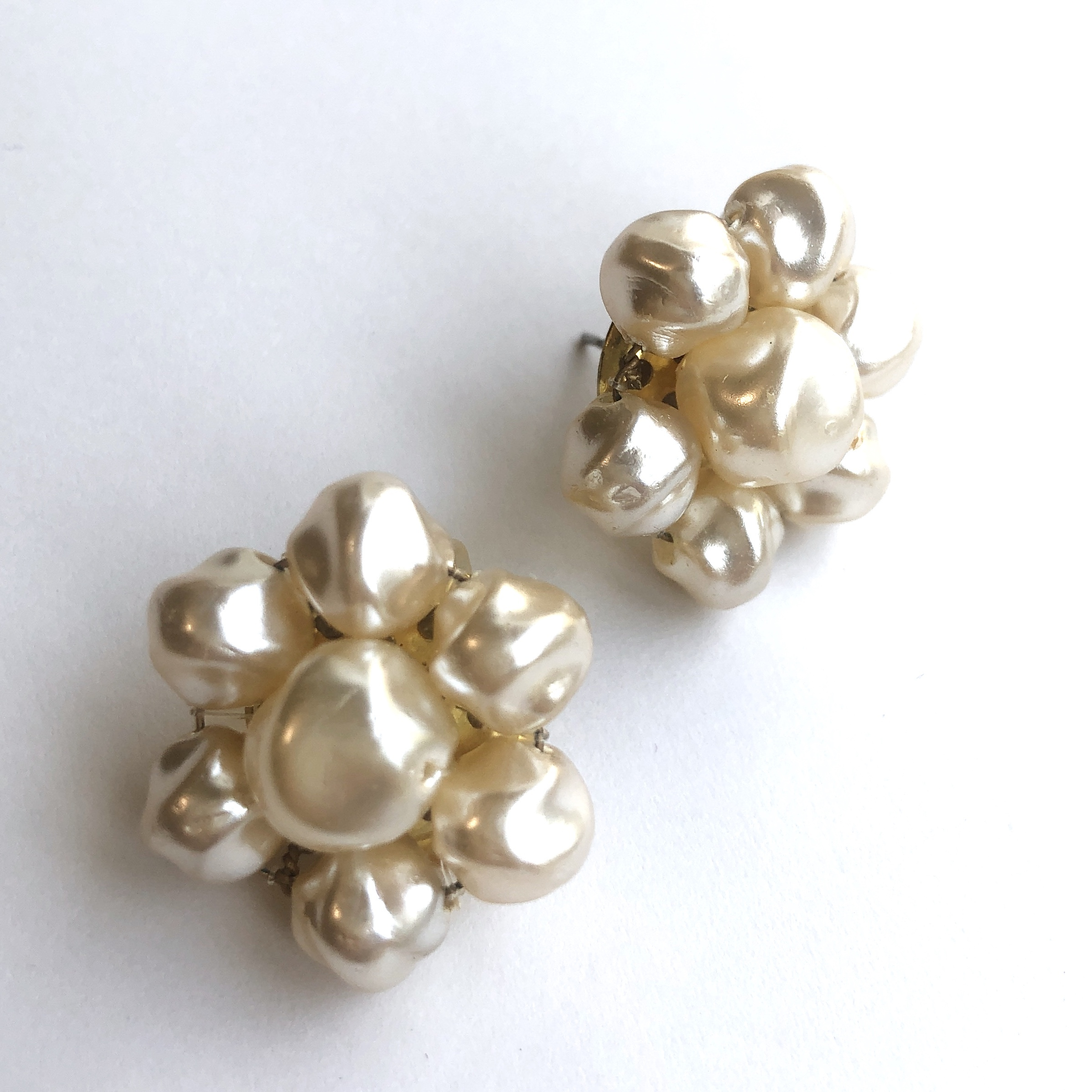 Baroque pearl earrings L-059