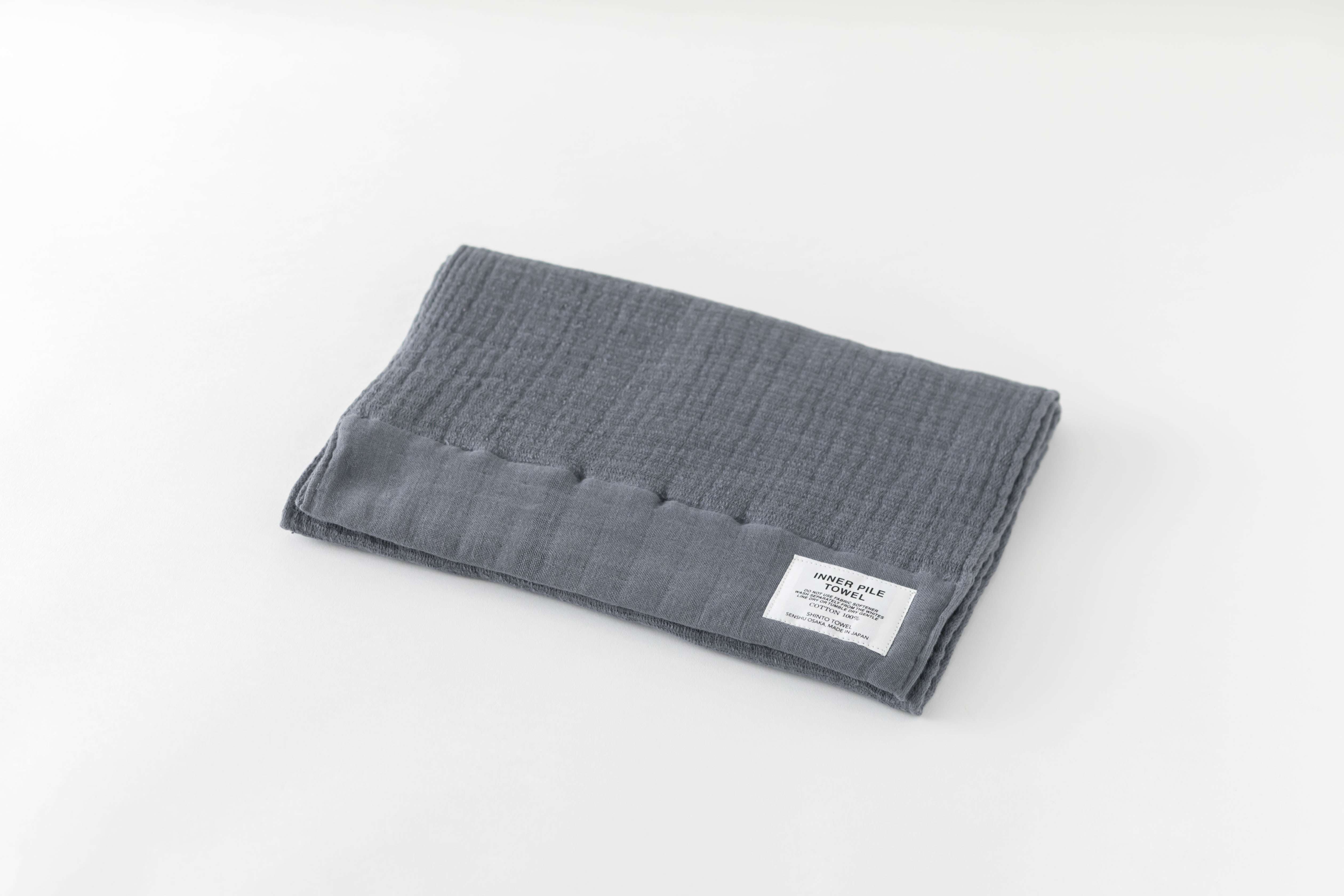 INNER PILE TOWEL : FACE TOWEL (Charcoal) / SHINTO TOWEL
