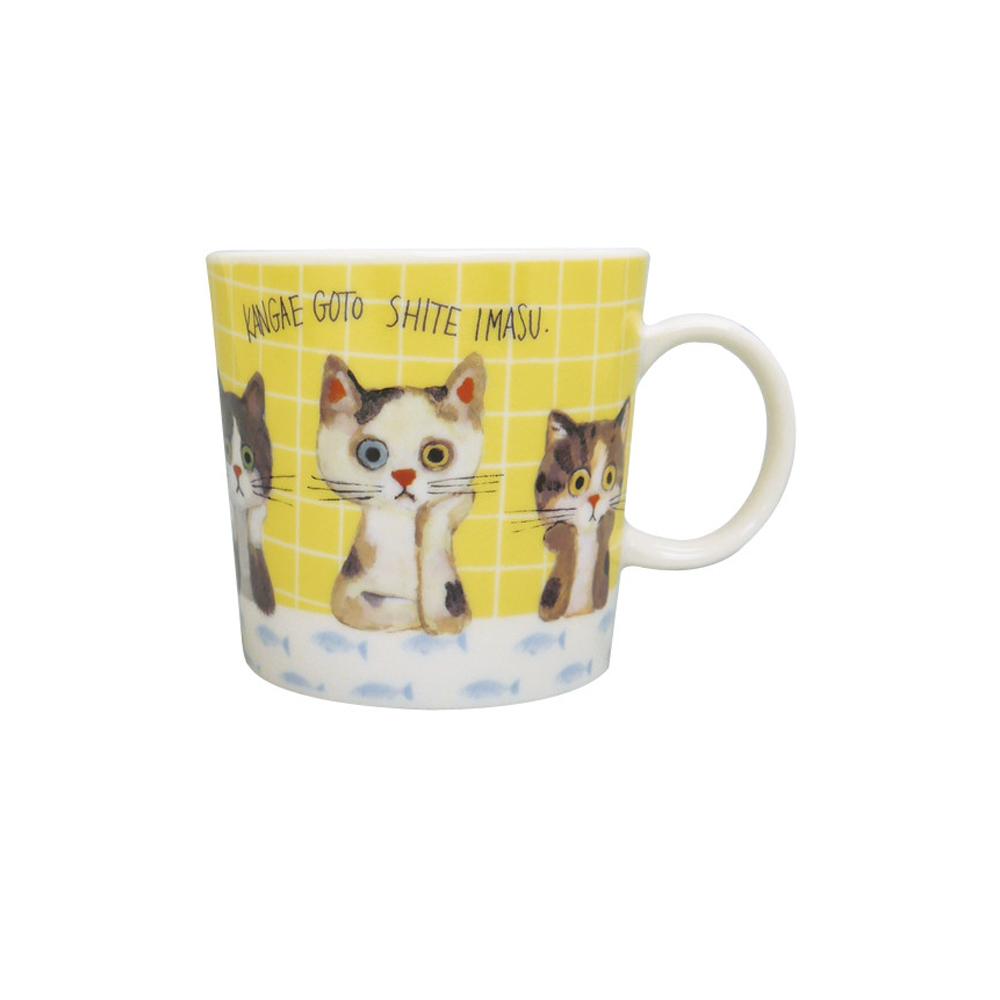 猫マグカップ(ミネットマグ)ニャンコ考え中