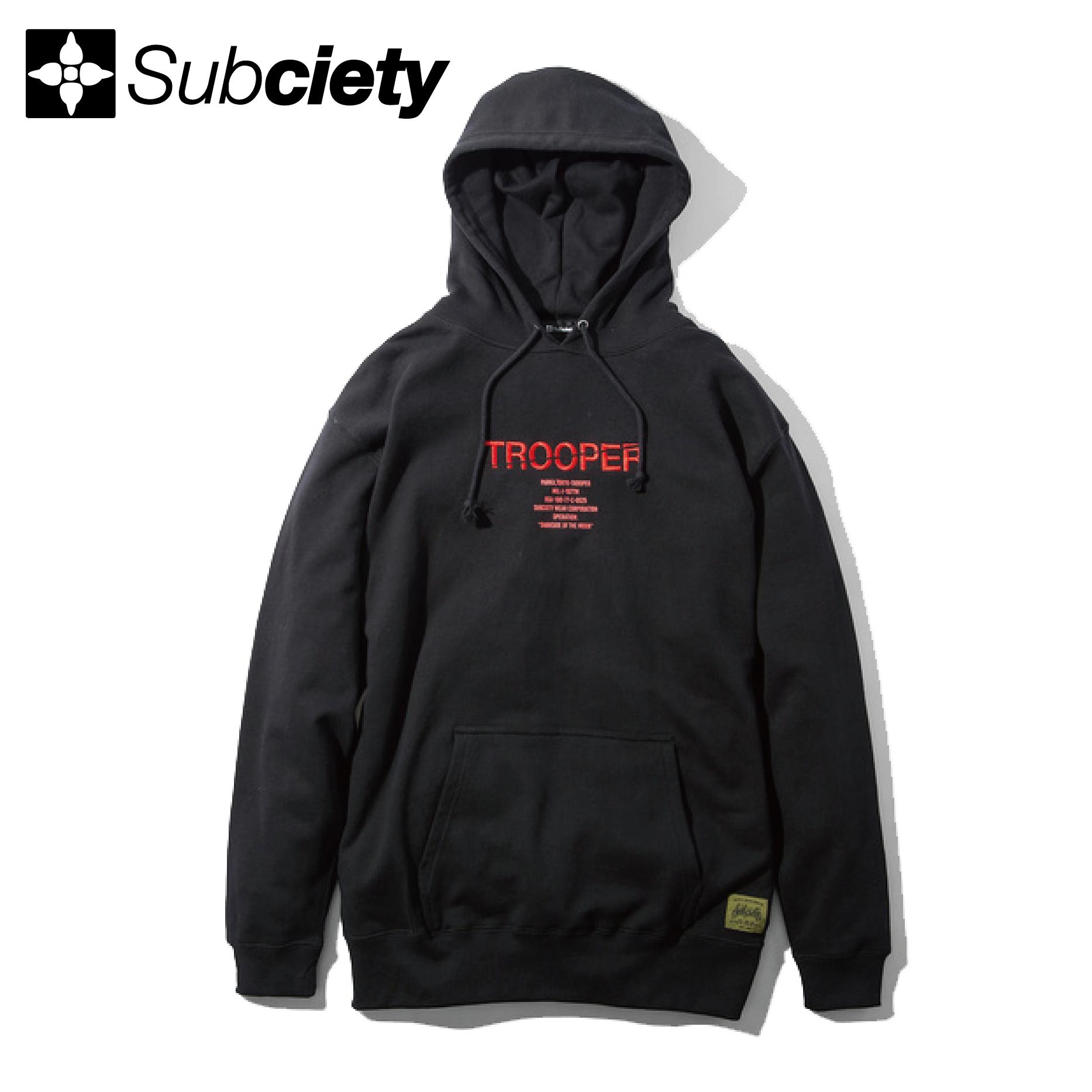 【送料無料】Subciety(サブサエティ) | TROOPER PARKA (Black)