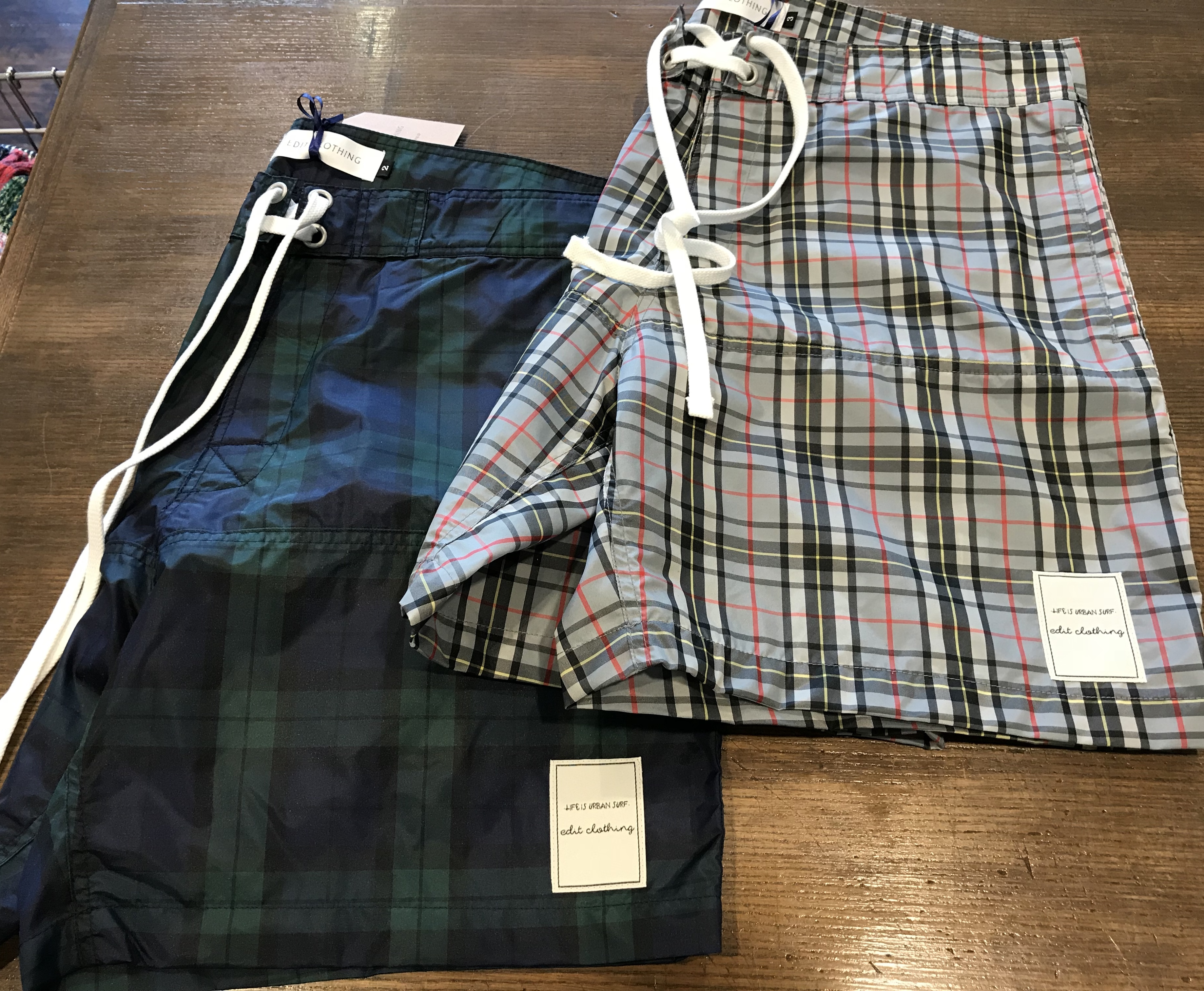 edit clothing  Check board  shorts