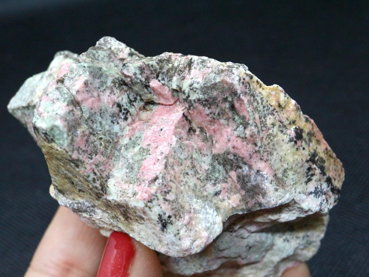 桃簾石 チューライト 225,7g TLT003  鉱物 天然石 パワーストーン 原石