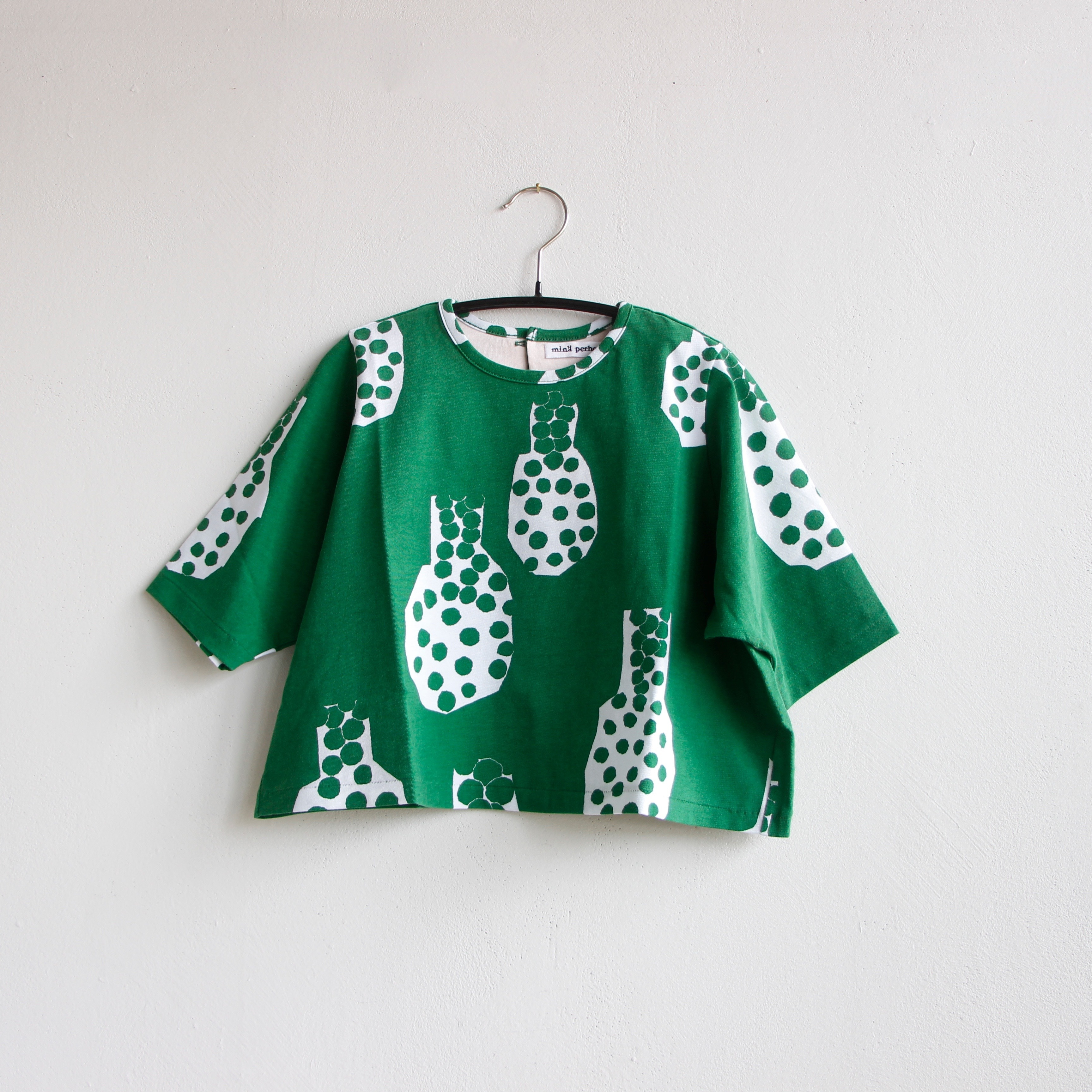 《mina perhonen 2020SS》cidre 半袖カットソー / green / 110-130cm