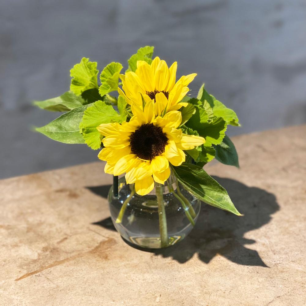 花瓶と季節のお花セット Sサイズ
