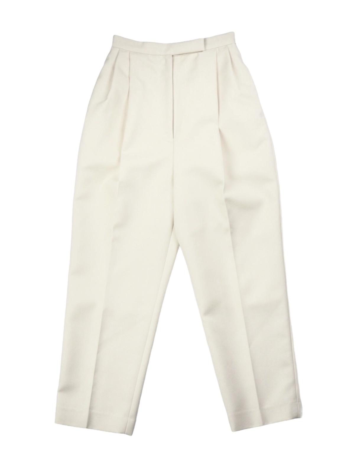 【IIROT】CHANBRAAY GABADINE TUCK PANTS