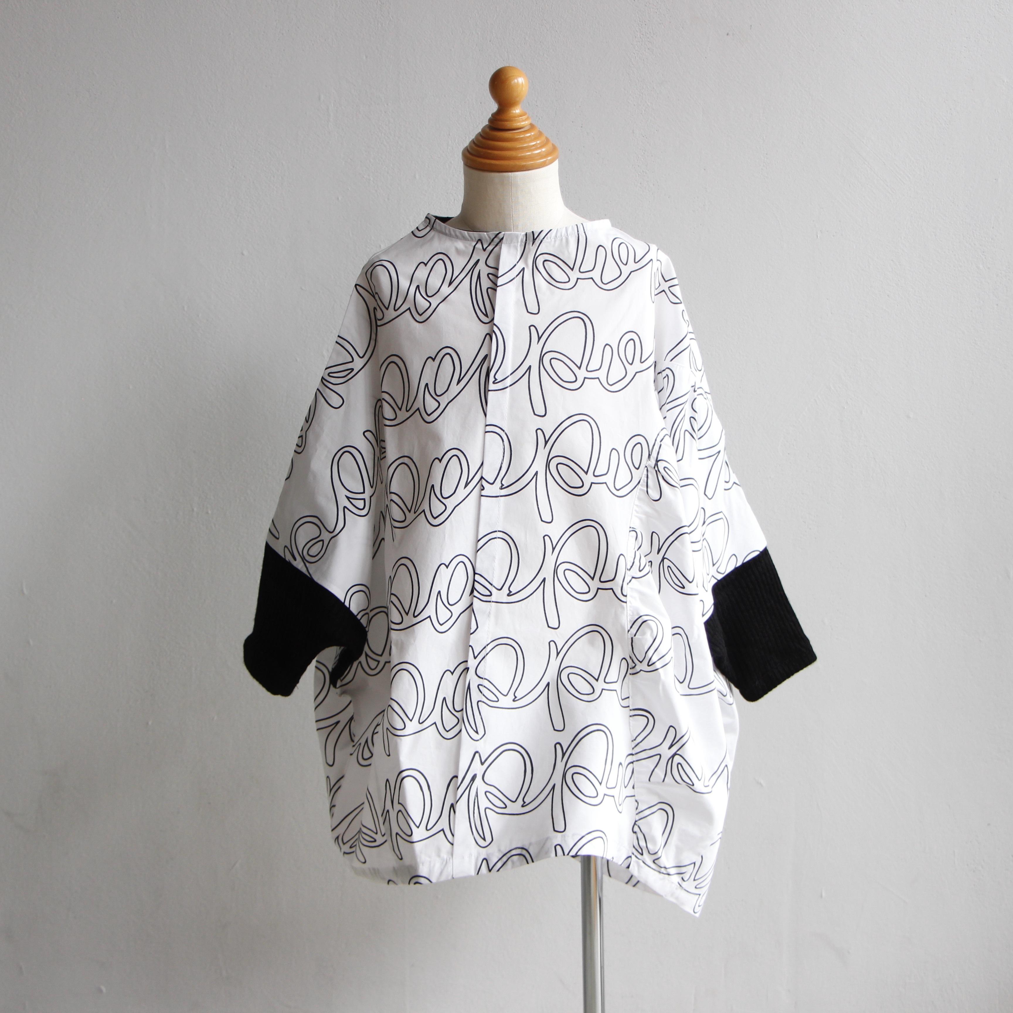 《frankygrow 2020AW》PENTAGON DRESS / white × black / LL