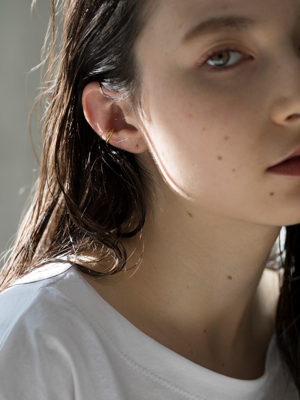 double ear cuff silver / gold(再入荷)