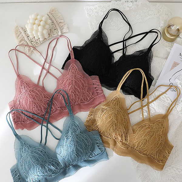(A-Cカップ)【下着セット】女孩シンプルスウィートキュートファッションブラ&ショーツセット30437824