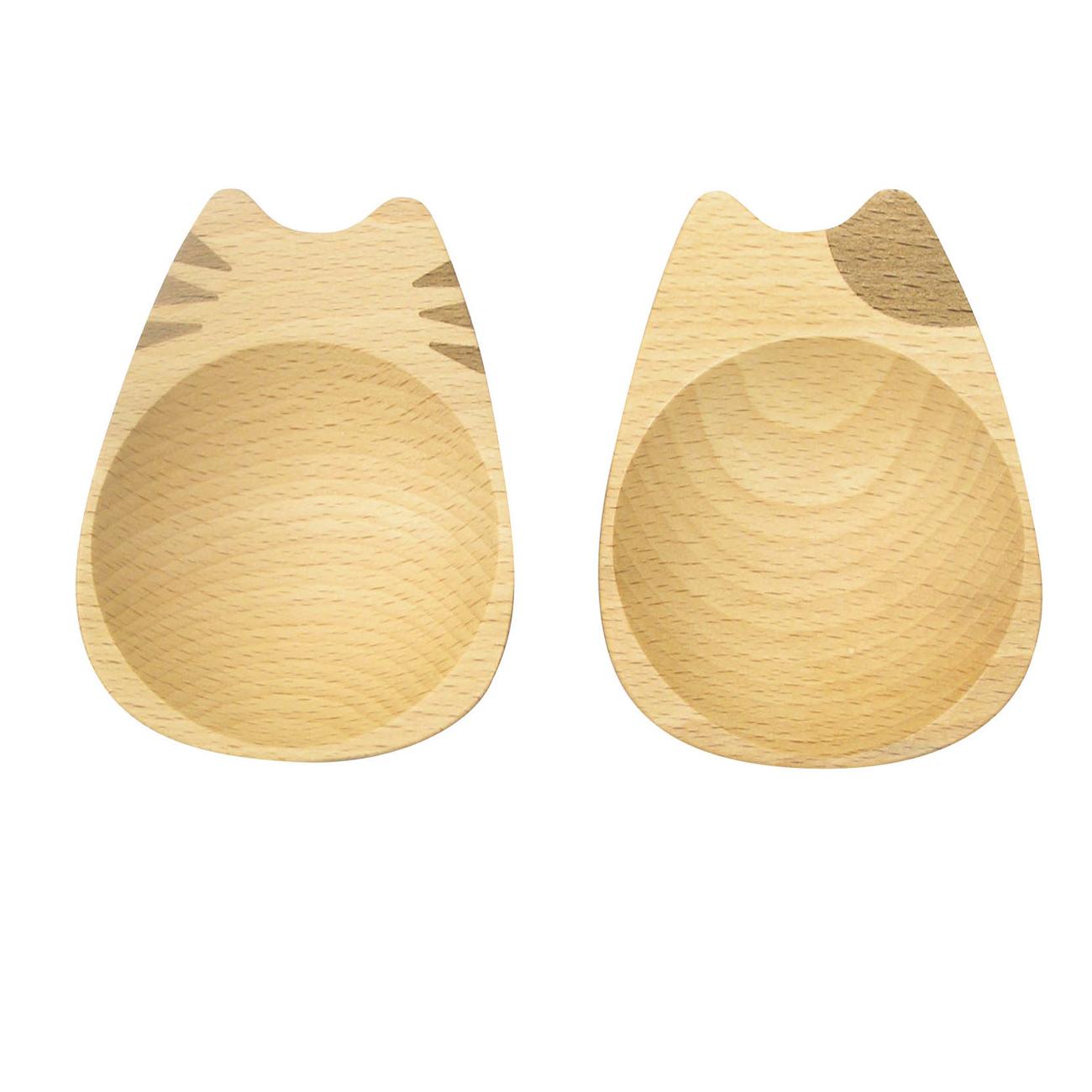 猫豆皿(木製豆皿ネコボディ)