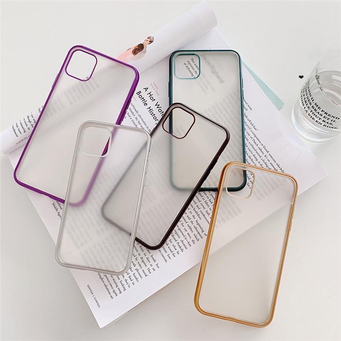 【お取り寄せ商品、送料無料】5カラー シンプル クリア マット ハード iPhoneケース iPhone11