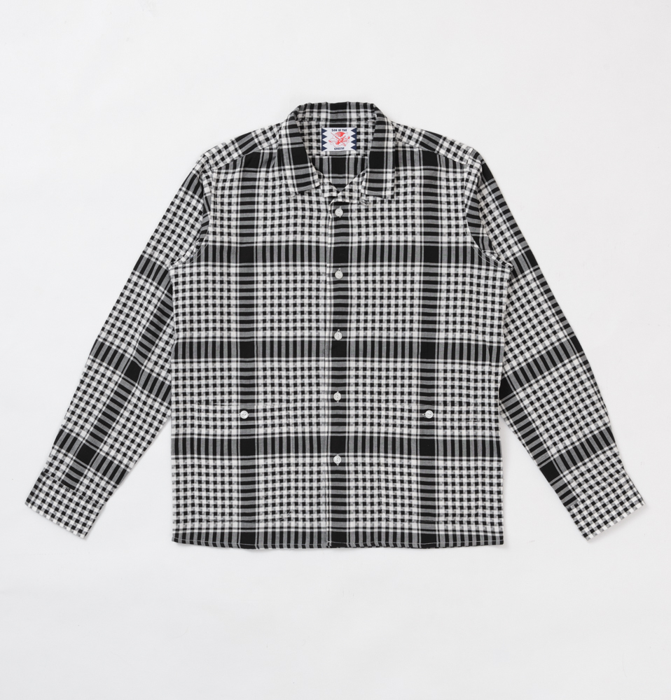 【SON OF THE CHEESE】WELL SHIRTS(BLACK CHECK)