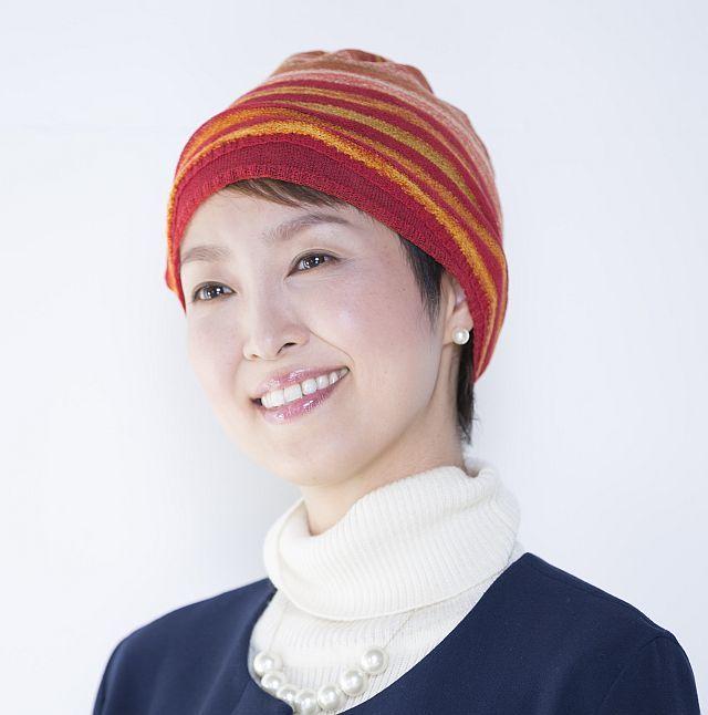 【送料無料】こころが軽くなるニット帽子amuamu|新潟の老舗ニットメーカーが考案した抗がん治療中の脱毛ストレスを軽減する機能性と豊富なデザイン NB-6552|絣3WAYストール