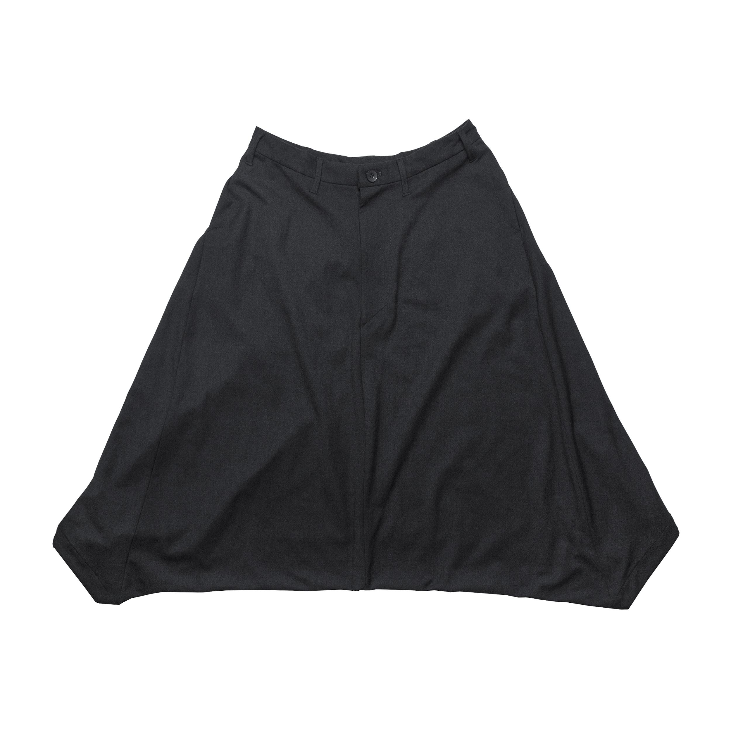 678PAM3-BLACK / サルエルカイトパンツ