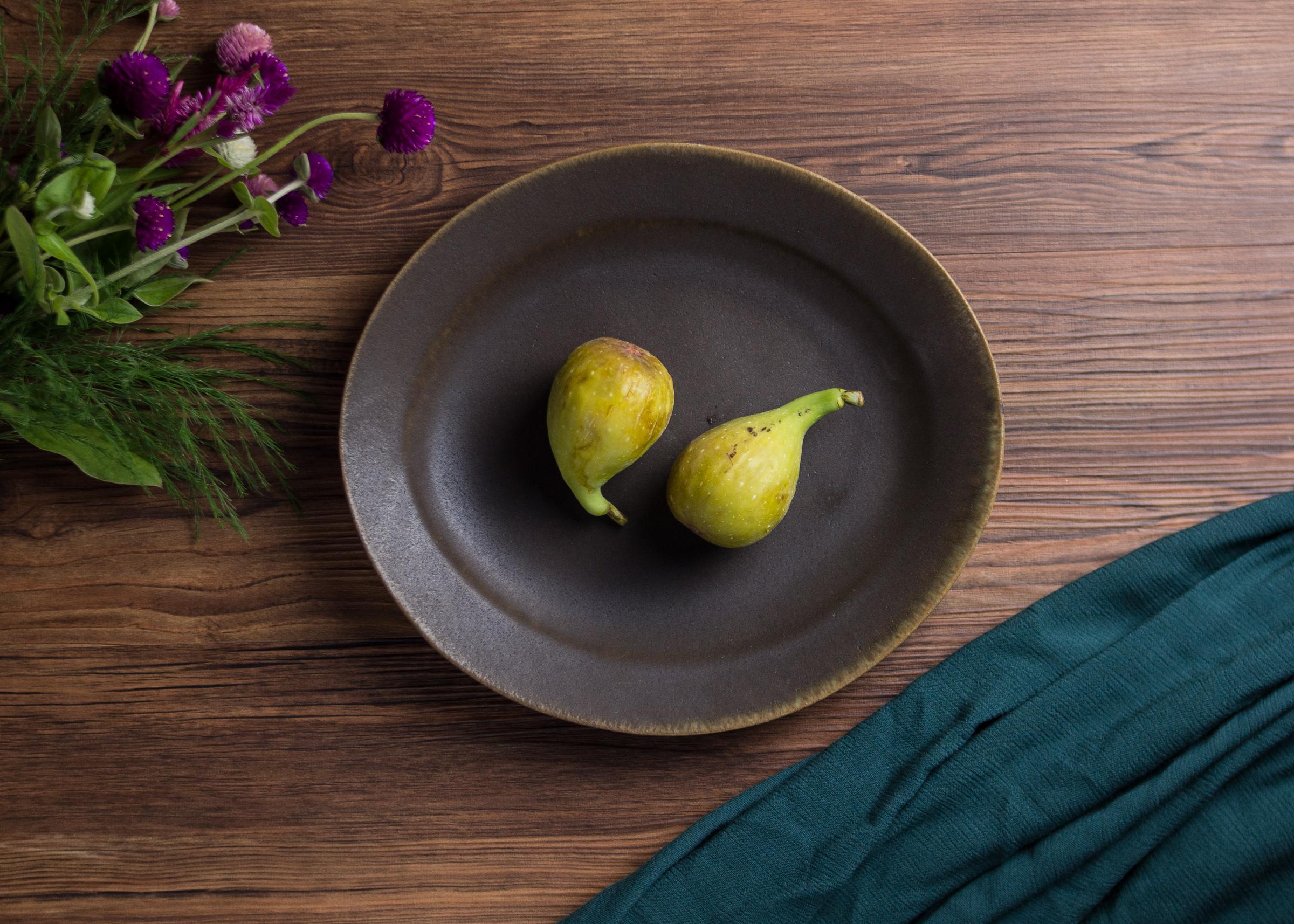 錆釉 楕円リム皿(⼤)(信楽焼・オーバル・大皿)/古谷 浩一