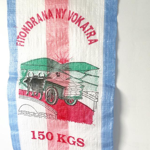 マダガスカル プラスチック米袋