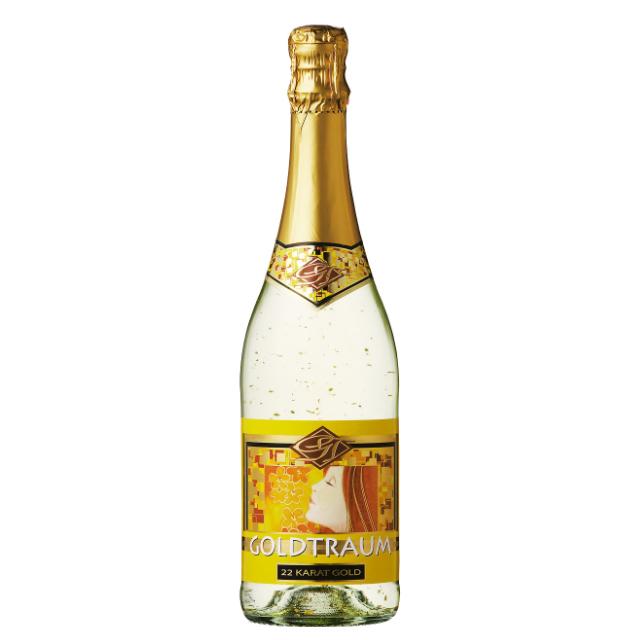 ゴージャスな金箔入りワイン☆【ドイツ】ゴールドトラウム スパークリング ホワイト 誕生日やイベント&ギフトに
