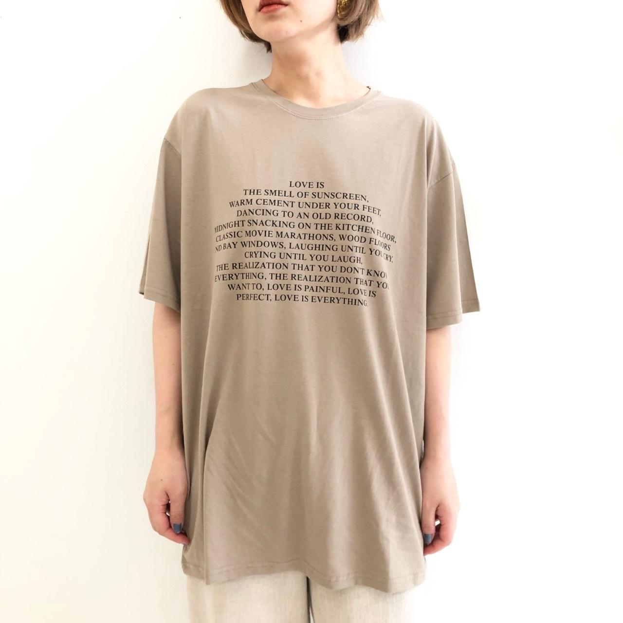 【 Days 】- 119-1384 - ロゴプリントBIGTeeシャツ