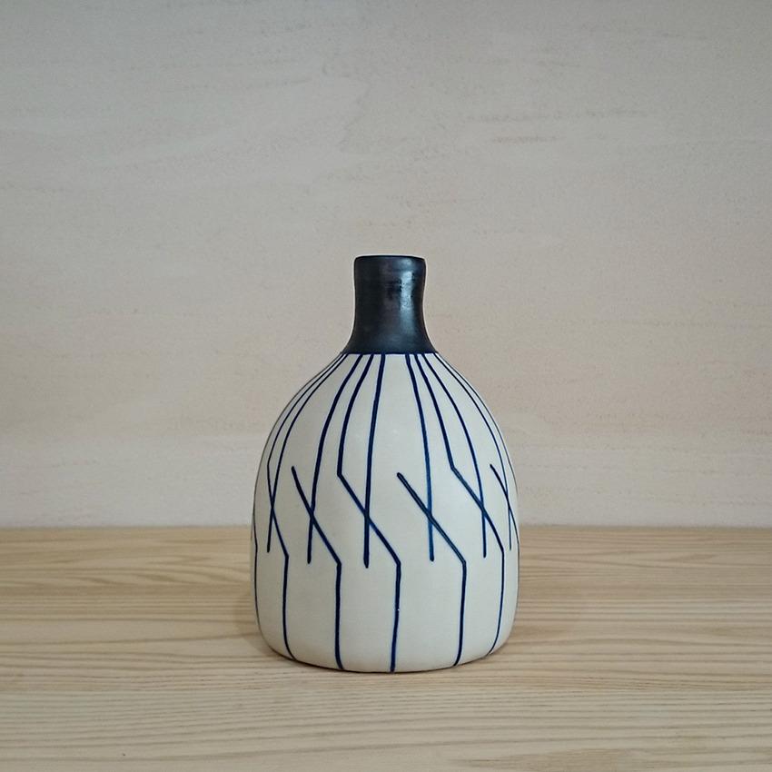 陶器 ジオメトリック ブルー