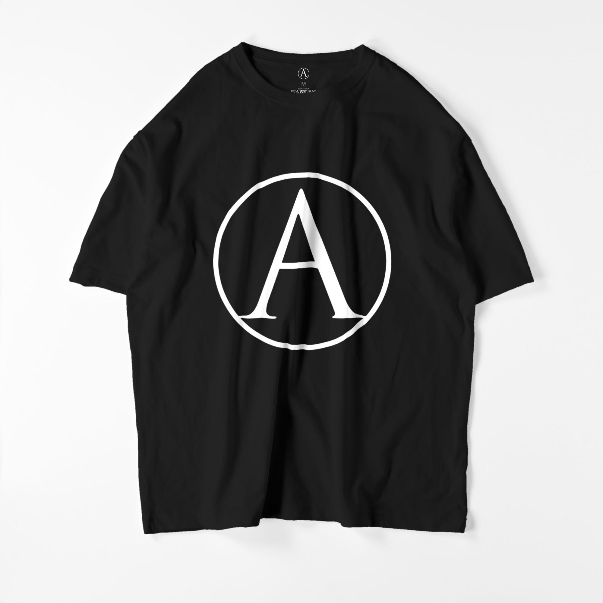 A ビッグシルエットTシャツ ブラック(白抜き) / Mens