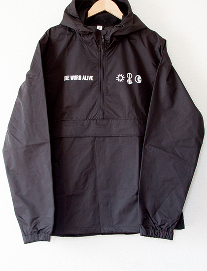 【THE WORD ALIVE】Symbols Windbreaker (Black)