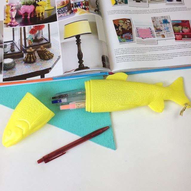Fish Case!! L  (Yellow)