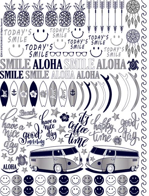 SMILE Aloha スマイルアロハ A4サイズ(ポーセリンアート用転写紙)
