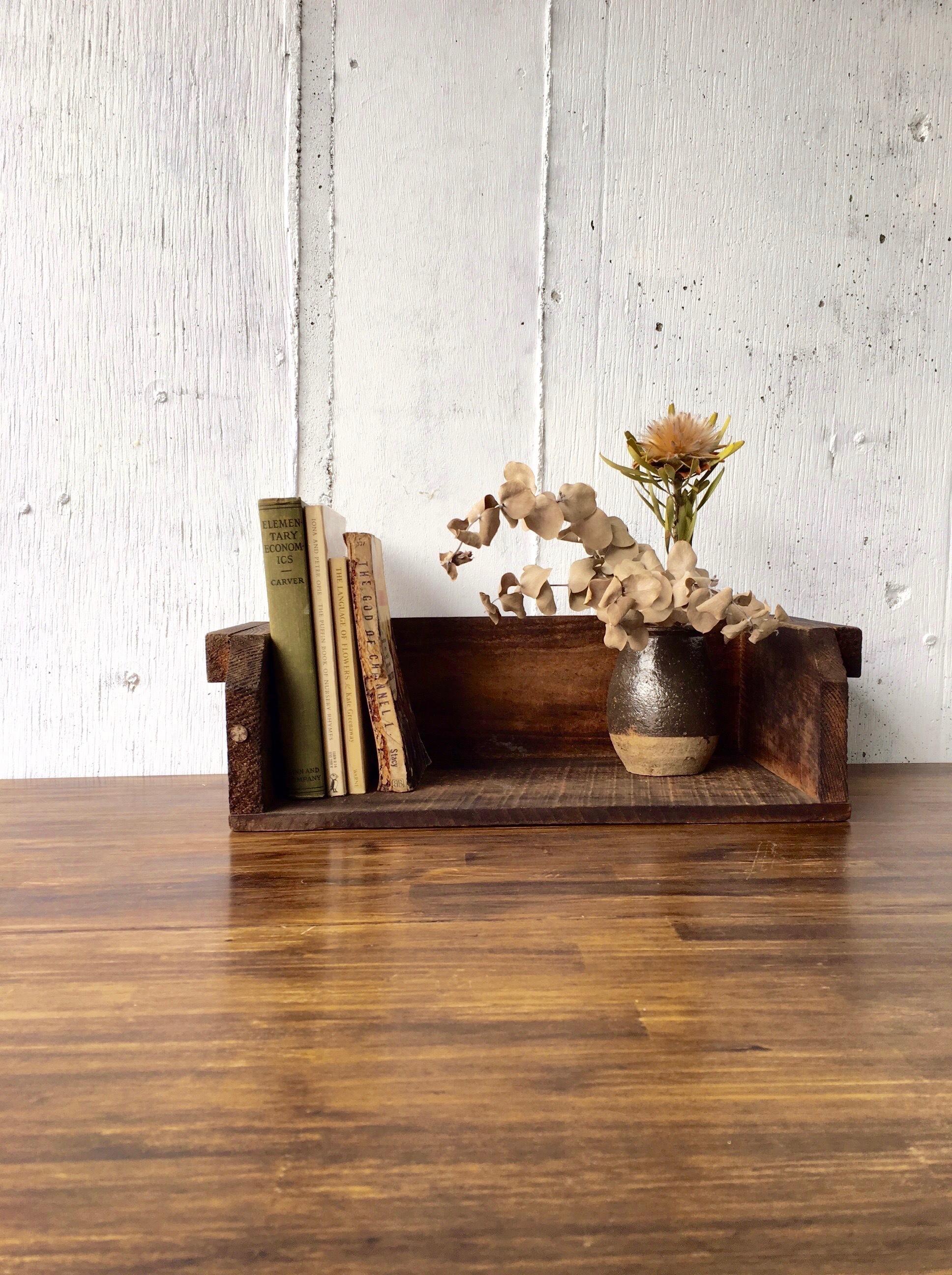 濃い木味の本立て〈古家具〉