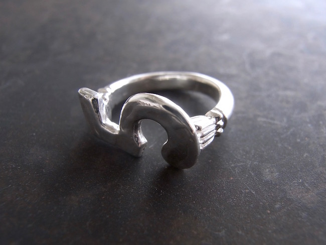 Numero Pinky Ring/数字5のピンキーリング/S