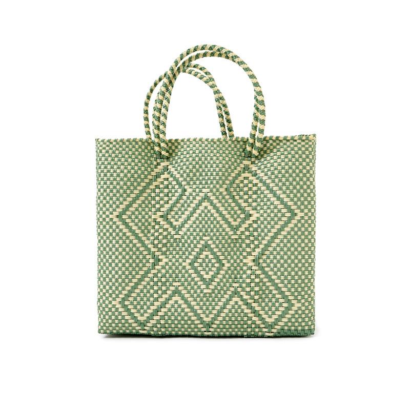 MERCADO BAG CANGREJO ‐Ivory × Light Green(S)