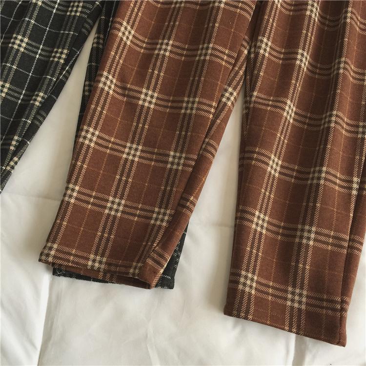 〈1周年記念リクエスト〉ハイウエストあったかチェックパンツ【high waist warm check pants】