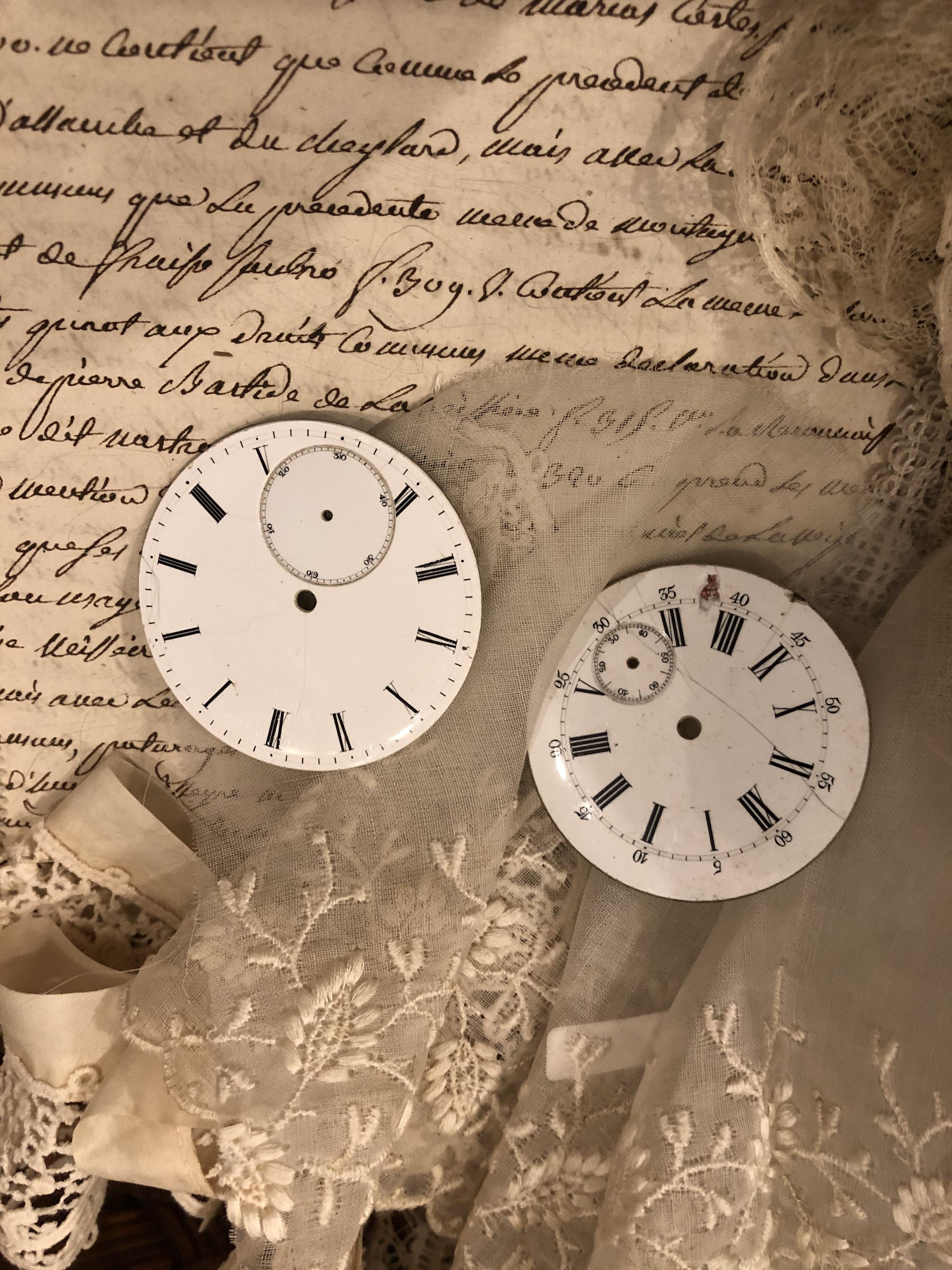 フランスブロカント ジャンク時計パーツ 2個セット CP001