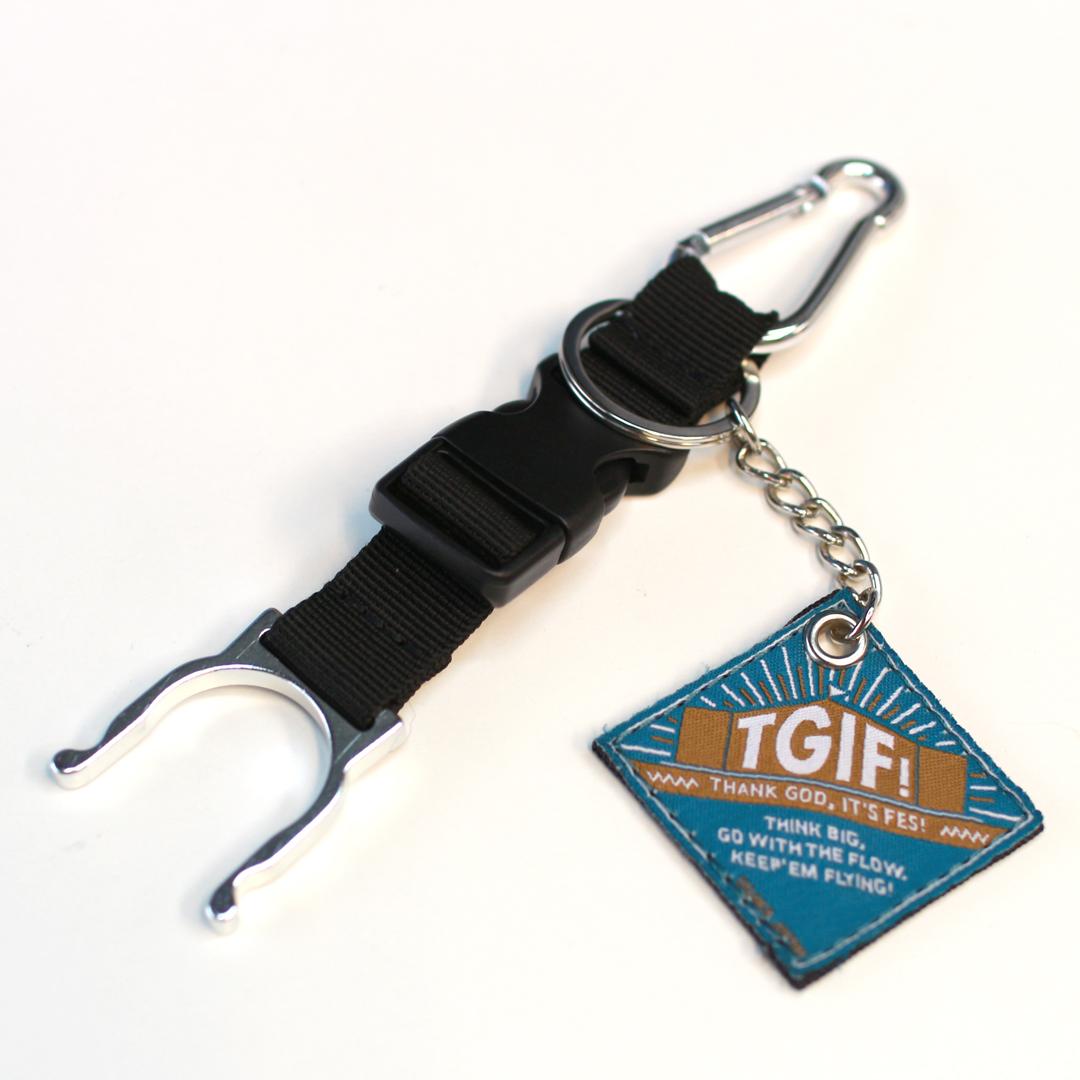 TGIF!  キーリング付きボトルホルダー