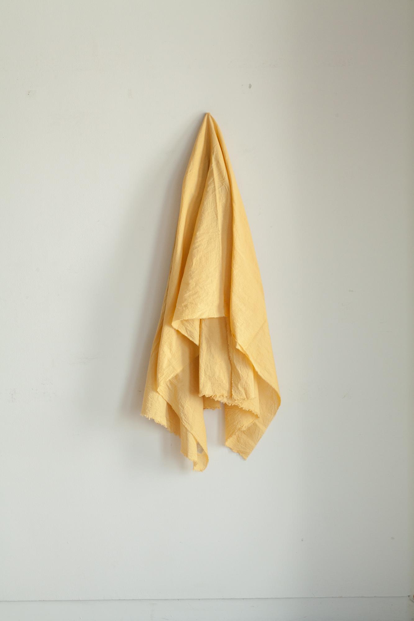 01411-2 cotton/linen stole / mustard