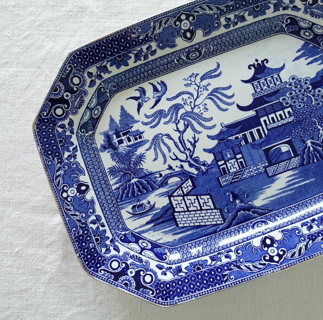 バーレイのウィローパターンな大皿
