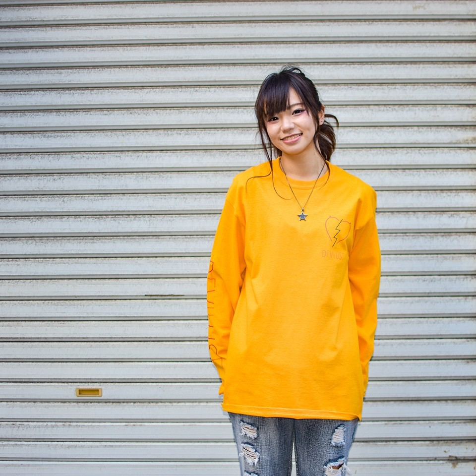 Deviluse(デビルユース) | Neon L/S T-shirts(Yellow)