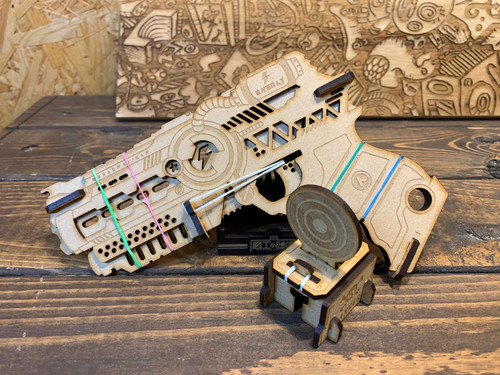 いかすゴム鉄砲 & ターゲット1個セット  /  図工の時間