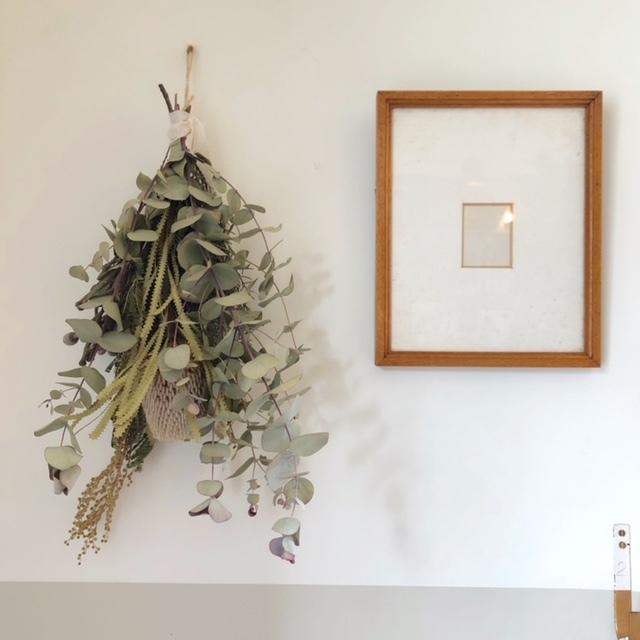 hiba -swag (Dry flower)- ヒバ スワッグ w25×H45cm