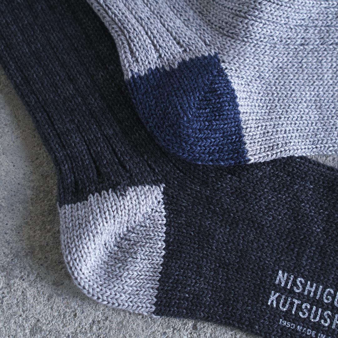 NISHIGUCHI KUTSUSHITA 西口靴下 リスペクトコットンリブソックス M / RECYCLED COTTON RIBBED SOCKS M【メンズ】