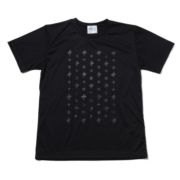 【FLOWER by RADIO EVA 018】EVA Monogram T-Shirt  BLACK / EVANGELION エヴァンゲリオン