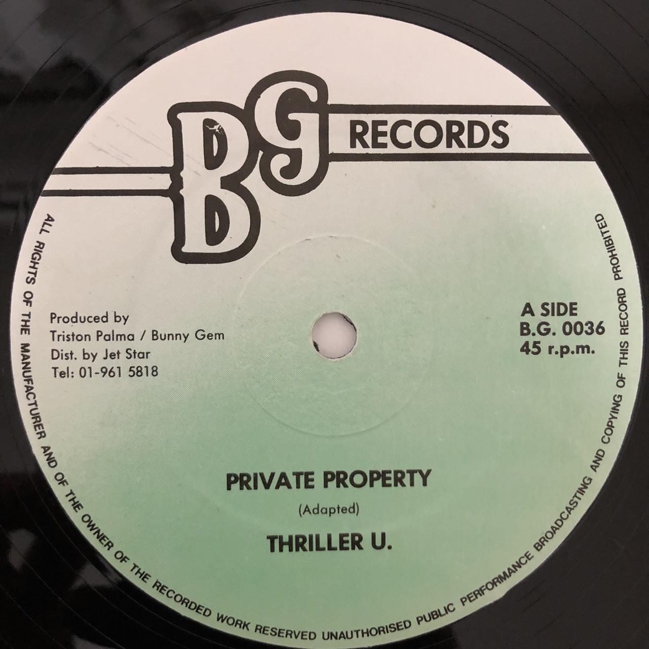 Thriller U - Private Property【12-50013】