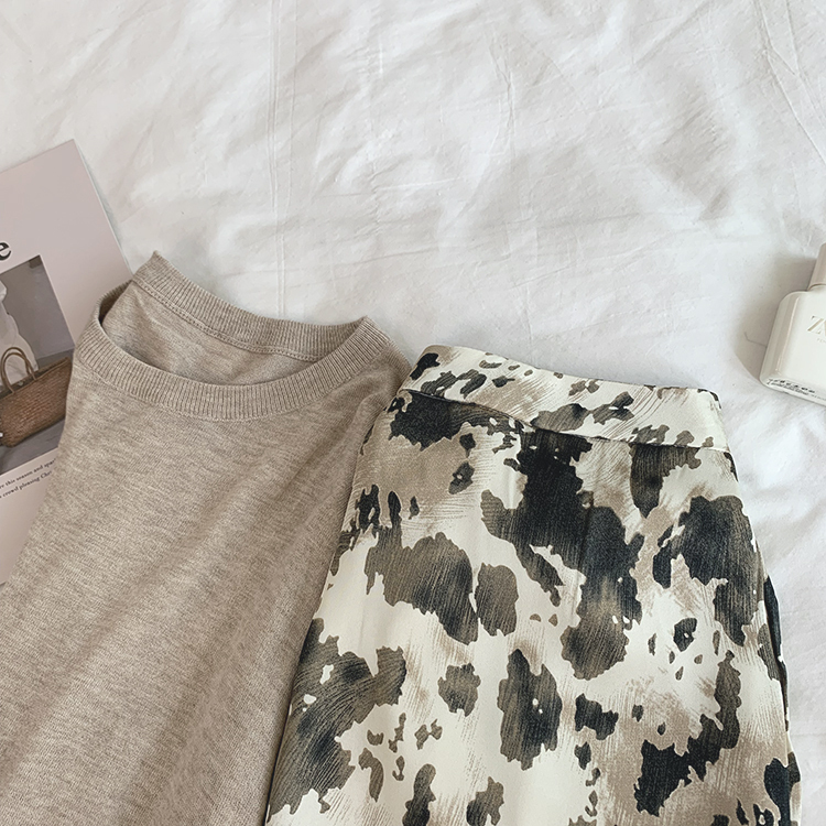 〈カフェシリーズ〉コーヒー牛乳のシフォンスカート【coffee milk chiffon skirt】